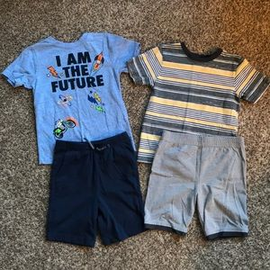 EUC Boys 5T lot summer outfits